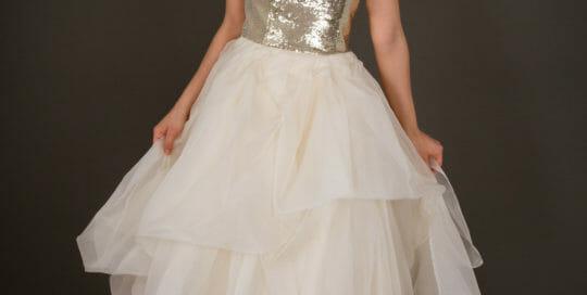 Brautkleid von ANNE WOLF. Modell Esmeralda.