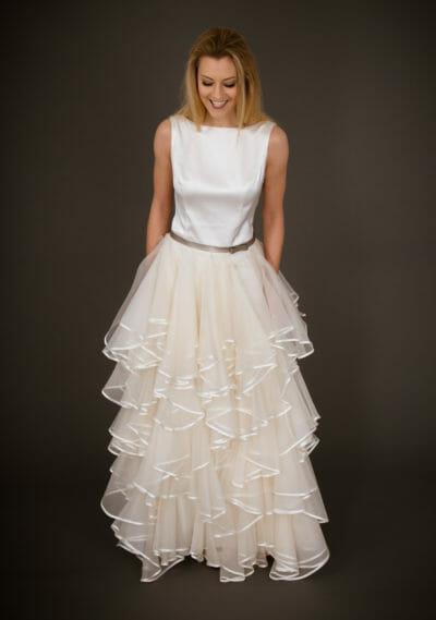 Brautkleid von ANNE WOLF. Modell Rolgardina.