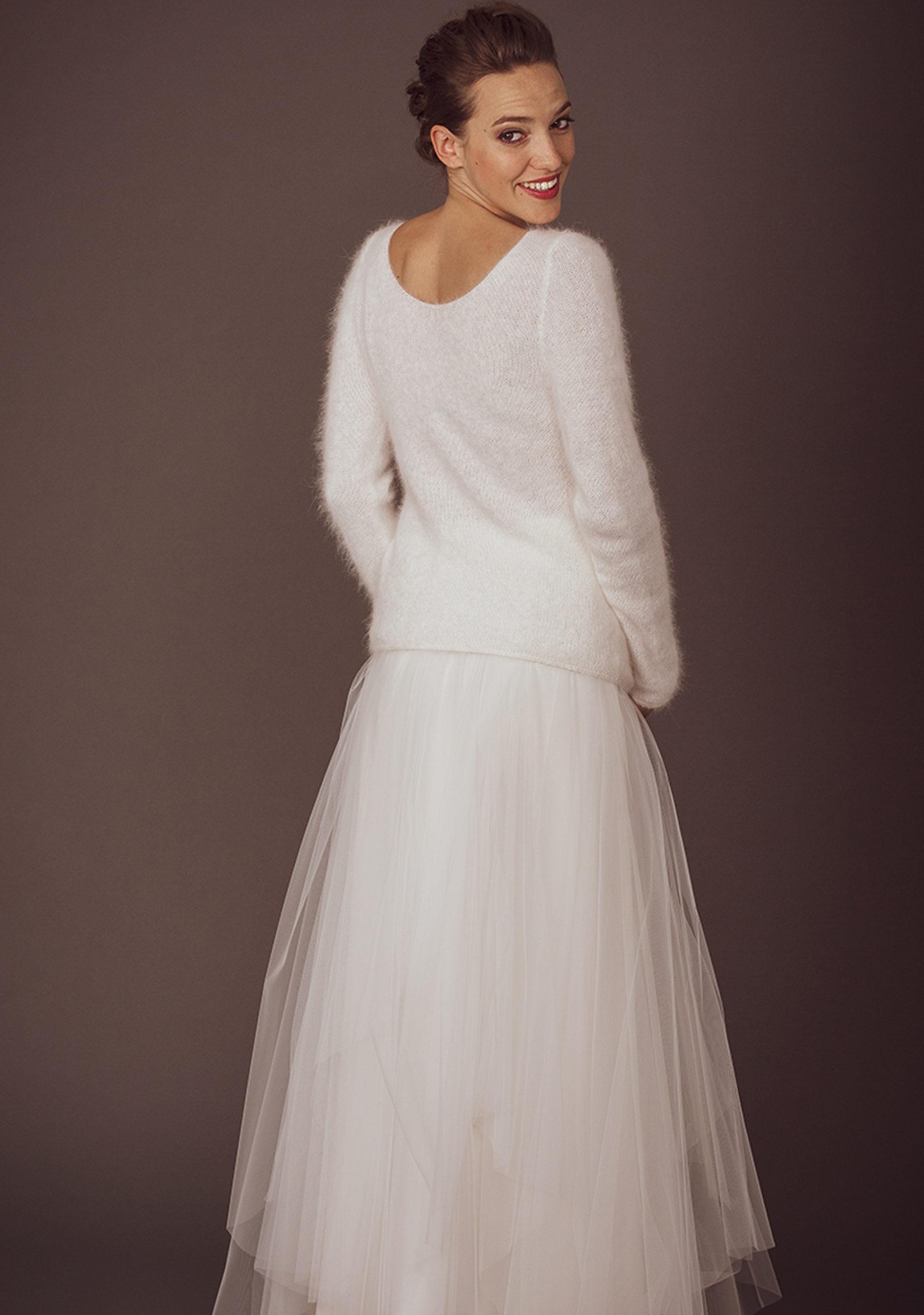Strick-Pulli aus Wolle für die Braut