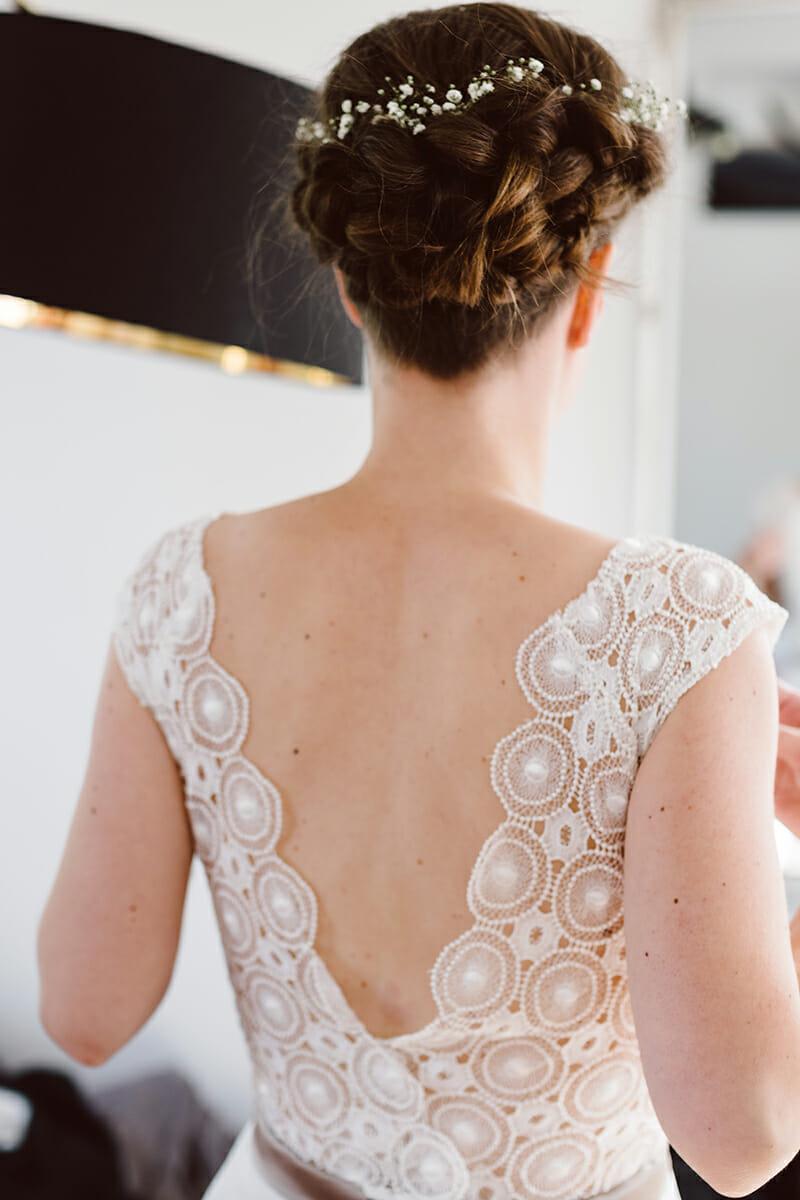 Das Brautkleid am Hochzeitstag