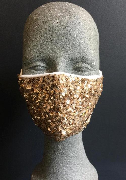 Gesichtsmaske mit Glitzer von ANNE WOLF